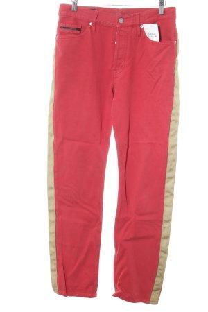 Calvin Klein Jeans Jeansy z prostymi nogawkami złoto-czerwony