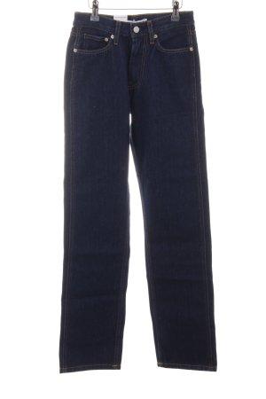 Calvin Klein Jeans Jeansy z prostymi nogawkami stalowy niebieski W stylu casual