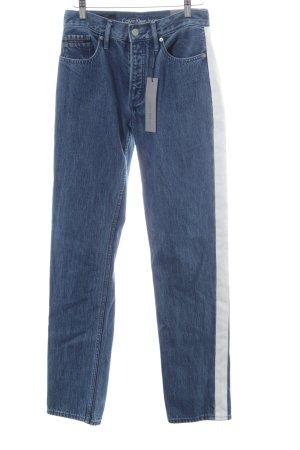Calvin Klein Jeans Straight-Leg Jeans stahlblau-weiß Casual-Look
