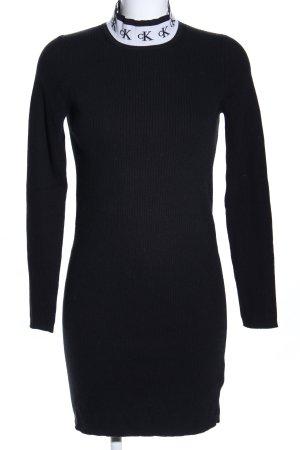 Calvin Klein Jeans Robe en maille tricotées noir-blanc élégant