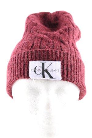 Calvin Klein Jeans Chapeau en tricot multicolore style décontracté