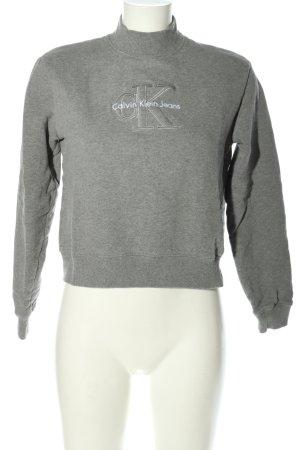 Calvin Klein Jeans Strickpullover hellgrau meliert Casual-Look