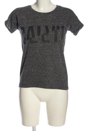 Calvin Klein Jeans T-shirts en mailles tricotées gris clair-noir moucheté
