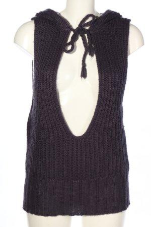 Calvin Klein Jeans Gilet tricoté noir torsades style décontracté