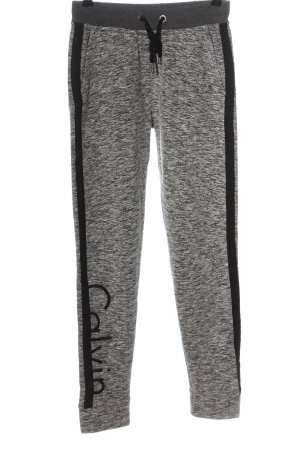 Calvin Klein Jeans Sweathose hellgrau-schwarz Schriftzug gestickt Casual-Look