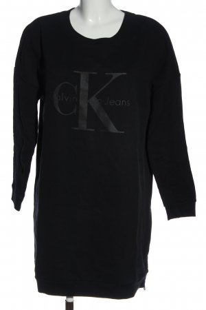 Calvin Klein Jeans Sweatkleid schwarz Schriftzug gedruckt Casual-Look