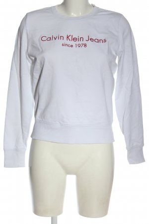 Calvin Klein Jeans Sweatshirt wit gedrukte letters casual uitstraling