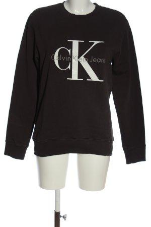 Calvin Klein Jeans Sweatshirt hellgrau Schriftzug gedruckt Casual-Look