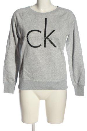 Calvin Klein Jeans Sweatshirt gris clair-noir moucheté style décontracté