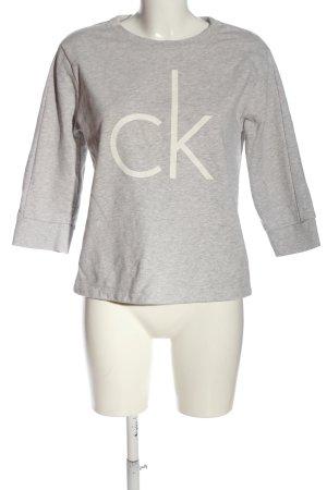 Calvin Klein Jeans Sweatshirt gris clair moucheté style décontracté