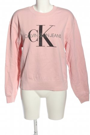 Calvin Klein Jeans Bluza dresowa różowy-jasnoszary Wydrukowane logo