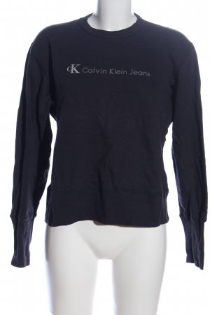 Calvin Klein Jeans Sweatshirt schwarz Schriftzug gedruckt Casual-Look
