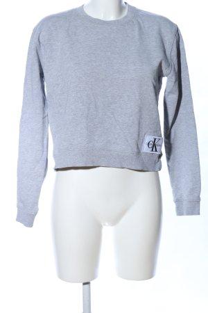 Calvin Klein Jeans Sweatshirt hellgrau meliert Casual-Look