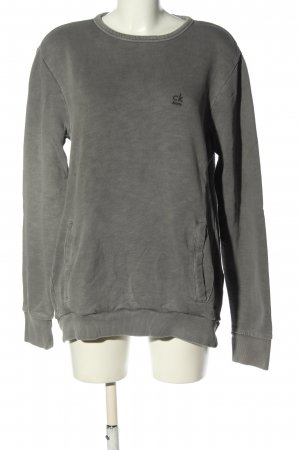 Calvin Klein Jeans Sweatshirt hellgrau Casual-Look