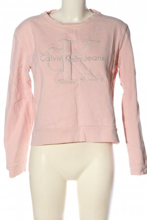 Calvin Klein Jeans Sweatshirt pink-silberfarben Motivdruck Casual-Look