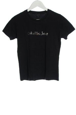 Calvin Klein Jeans T-shirt czarny W stylu casual