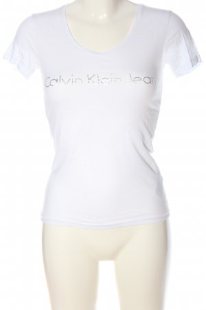 Calvin Klein Jeans T-shirt wit gedrukte letters casual uitstraling