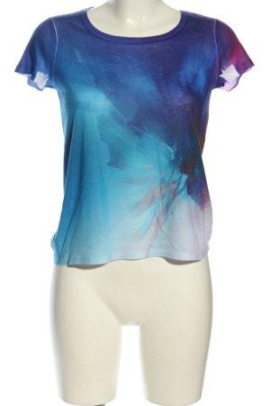 Calvin Klein Jeans T-Shirt blau Farbverlauf Casual-Look