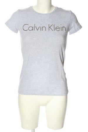 Calvin Klein Jeans T-Shirt hellgrau meliert Casual-Look