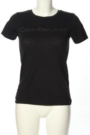 "Calvin Klein Jeans T-shirt ""W-prll23"" czarny"