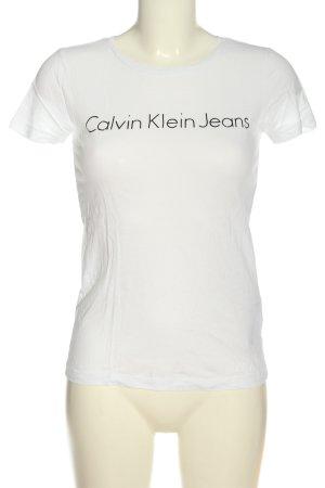 Calvin Klein Jeans T-Shirt weiß Schriftzug gedruckt Casual-Look