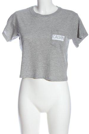 Calvin Klein Jeans T-Shirt hellgrau-weiß meliert Casual-Look