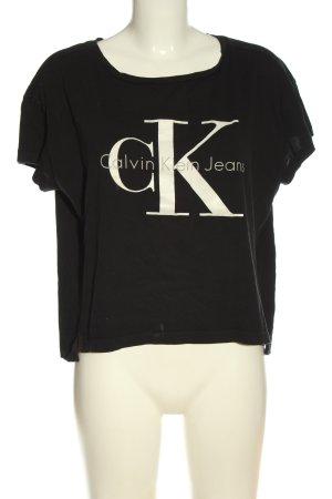 Calvin Klein Jeans T-Shirt schwarz Schriftzug gedruckt Casual-Look