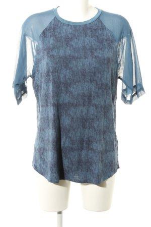 Calvin Klein Jeans T-Shirt blau Motivdruck Casual-Look