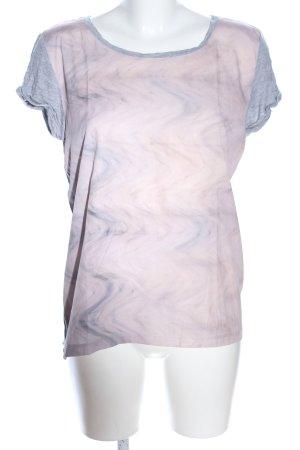 Calvin Klein Jeans T-Shirt hellgrau-pink meliert Casual-Look