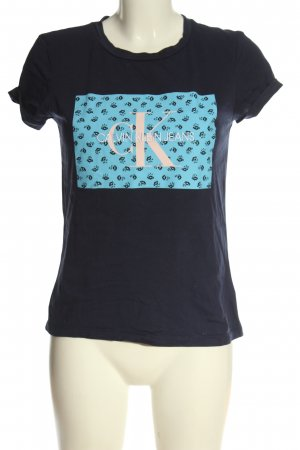 Calvin Klein Jeans T-Shirt abstraktes Muster Casual-Look