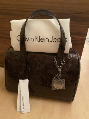 Calvin Klein Jeans Torebka podręczna ciemnobrązowy