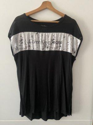 Calvin Klein Jeans T-shirt wit-zwart