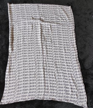Calvin Klein Chal veraniego blanco-negro