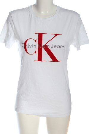 Calvin Klein Jeans T-Shirt Schriftzug gedruckt Casual-Look