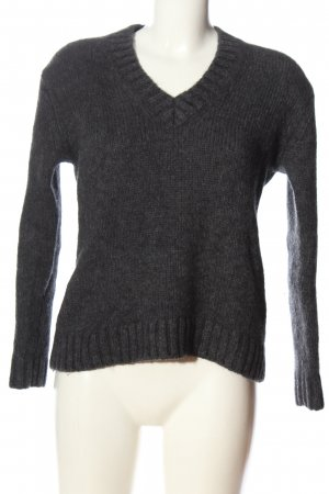 Calvin Klein Jeans V-Neck Sweater light grey flecked casual look