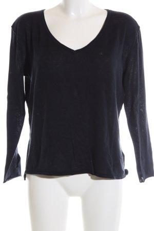 Calvin Klein Jeans V-Ausschnitt-Pullover blau Casual-Look