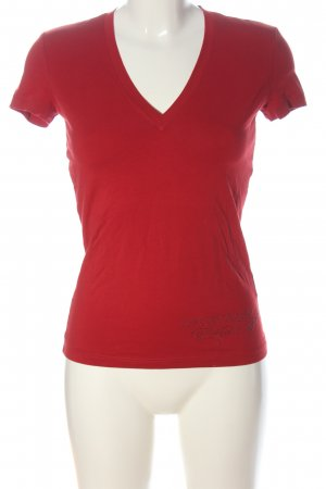 Calvin Klein Jeans V-hals shirt rood casual uitstraling