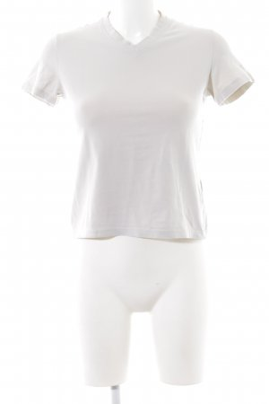 Calvin Klein Jeans V-Ausschnitt-Shirt hellgrau Casual-Look