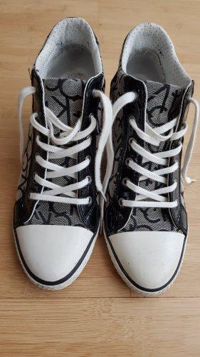 Calvin Klein Jeans VERO CK LOGO JACQUARD/PATENT Damen Hohe Sneakers