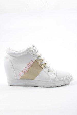 Calvin Klein Jeans Trampki klinowe Nadruk z motywem W stylu casual