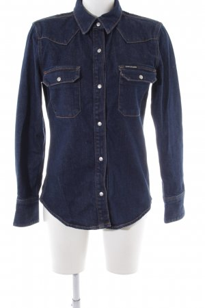 Calvin Klein Jeansjacke dunkelblau Casual-Look