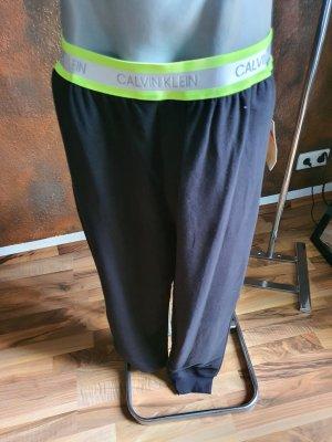 Calvin Klein Pantalón deportivo negro-amarillo neón