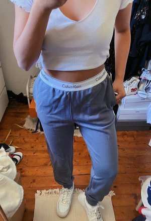 Calvin Klein Jogginghose / Sporthose / Loungewear Hose / Sweatpants mit weißen Streifen Logo Bund