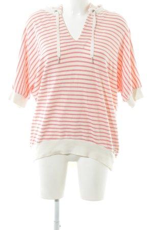 Calvin Klein Kapuzenpullover pink-wollweiß Streifenmuster Casual-Look