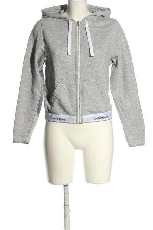 Calvin Klein Hooded Sweatshirt light grey flecked casual look
