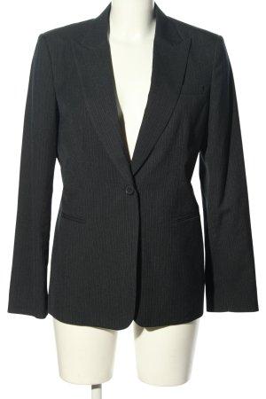 Calvin Klein Klassischer Blazer nero-grigio chiaro motivo a righe stile casual