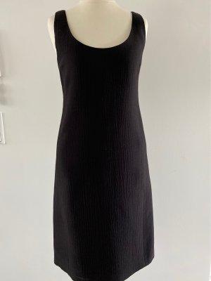 Calvin Klein Ołówkowa sukienka czarno-brązowy Wełna