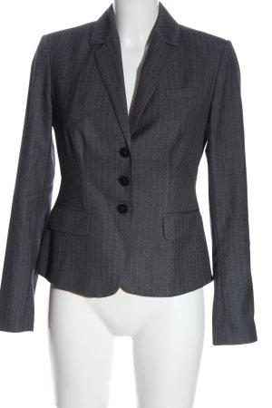 Calvin Klein Blazer court gris clair motif rayé style d'affaires