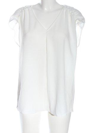 Calvin Klein Kurzarm-Bluse weiß Elegant