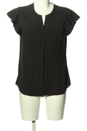 Calvin Klein Kurzarm-Bluse schwarz Casual-Look